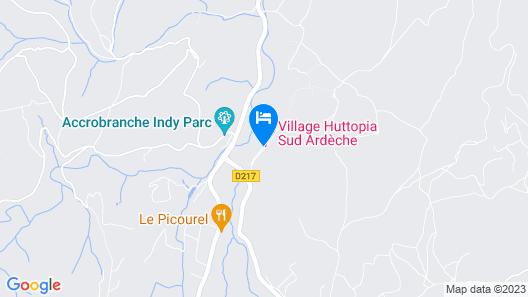 Village Huttopia Sud Ardèche Map
