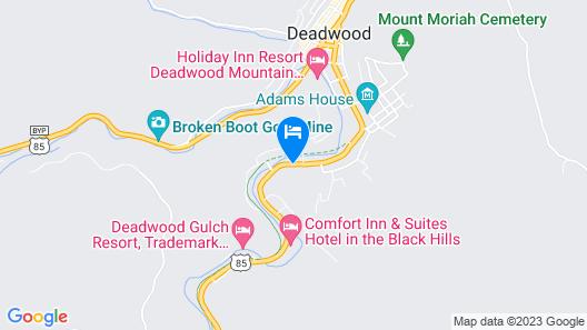 Deadwood Miners Hotel Map