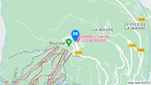 SOWELL RÉSIDENCES Pra Loup Map