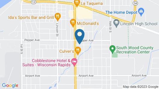Motel 6 Wisconsin Rapids, WI Map