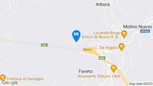 Villa Carmelina Map