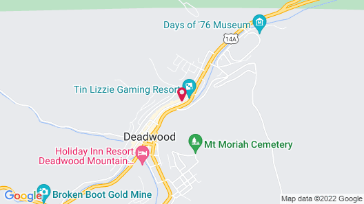 Hampton Inn Deadwood at Tin Lizzie Gaming Resort, SD Map