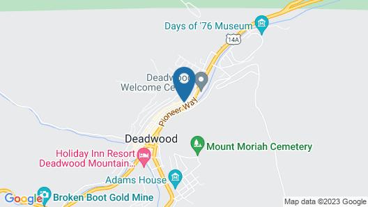 Hampton Inn Deadwood at Tin Lizzie Gaming Resort, SD Map