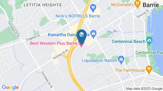 Best Western Plus Barrie Map