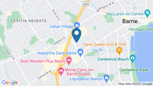 The Barrie Motel Map