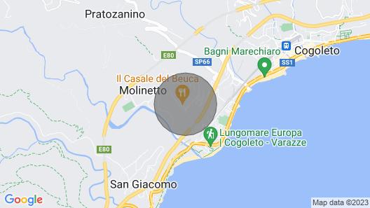 Residence Villa Beuca, Cogoleto Map