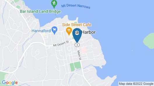 Bar Harbor Villager Motel- Downtown Map