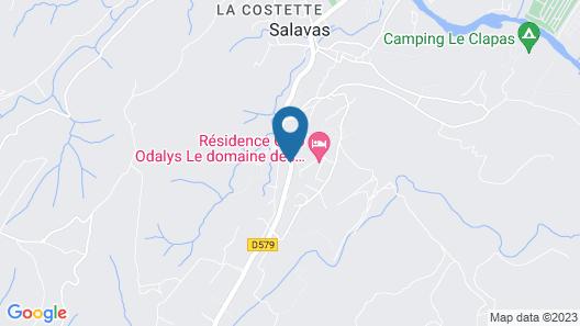 Résidence Club Odalys Le domaine des Hauts de Salavas Map