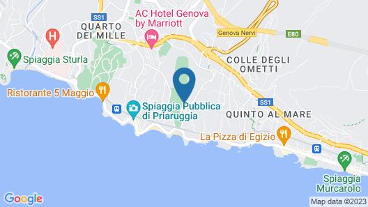 B&B La Rosa Segreta Map