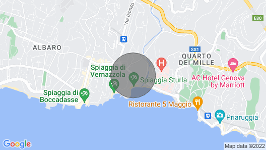 Beautiful Apartment a Stone's Throw From the sea and the Gaslini and Boccadasse Hospital Map
