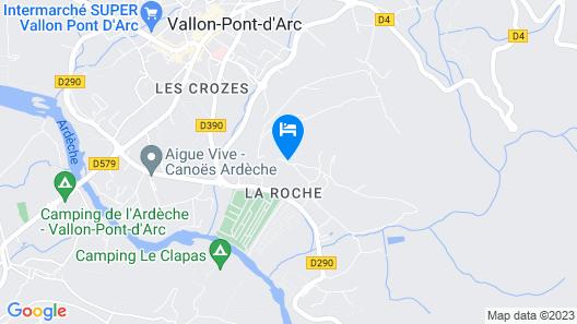 Camping le Vieux Vallon Tente Aventure  Map