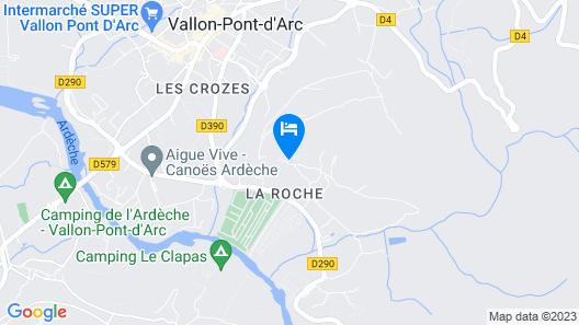 Camping le Vieux Vallon Chalet Premium Map