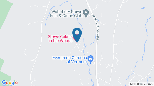 Stowe Cabins in the Woods Map