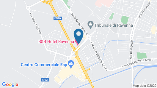 B&B Hotel Ravenna Map