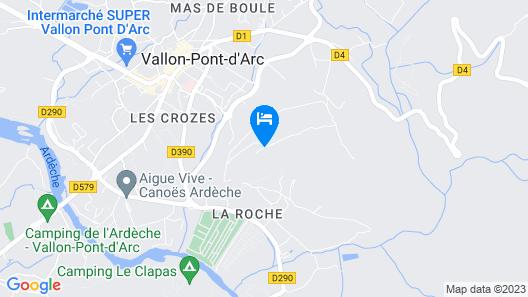 Chambre en Ardeche du Sud Map