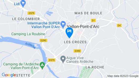 Hotel le Manoir du Raveyron Map