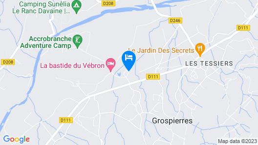 La Bastide du Vebron Map