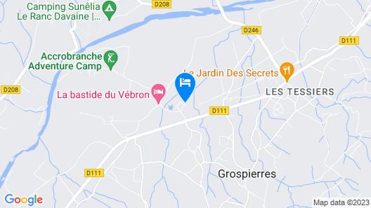 Gîte Tanargue Map
