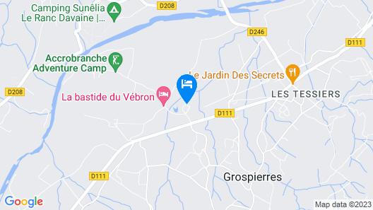 Gîte Païolive Map