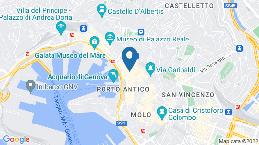 Genova tra Acquario e Musei Apartment Map