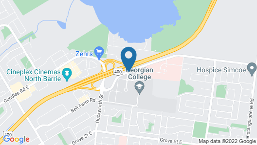 Residence & Conference Centre - Barrie Map