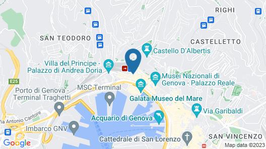 B&B Hotel Genova Map