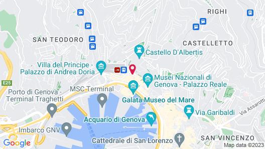 Hotel Continental Genova Map