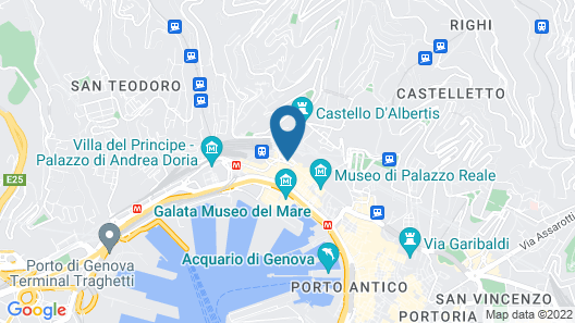 Hotel Continental Genova Map
