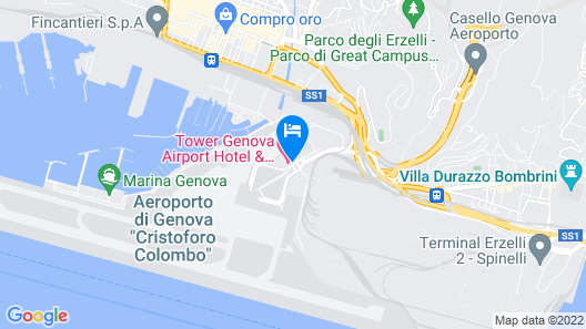 Tower Genova Airport Hotel & Conference Center Map