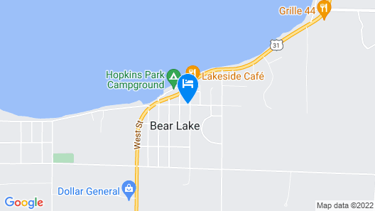Bear Lake Bed and Breakfast Map