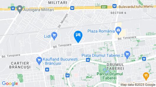 City Hotel Bucharest Map