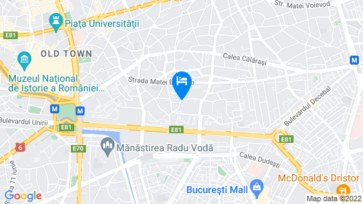 Bucharest Old Town Apartments Map