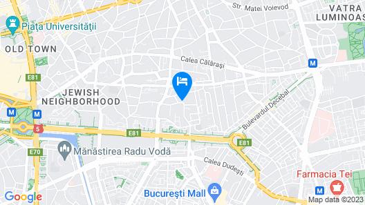 Bucharest Center Villa Map