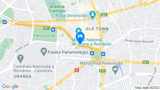 Concorde Old Bucharest Hotel Map