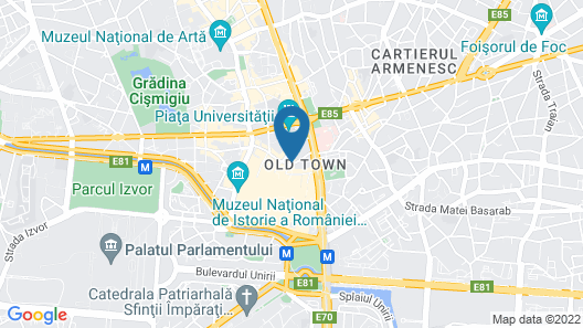 Hilton Garden Inn Bucharest Old Town Map