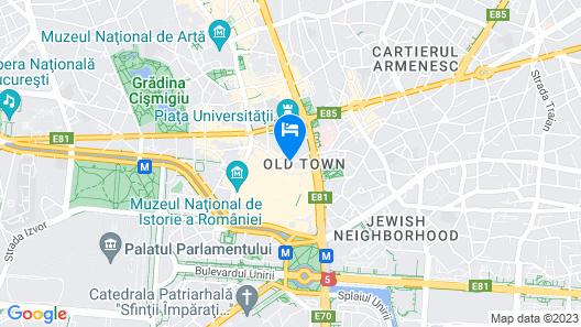 Hilton Garden Inn Bucharest Old Town Map