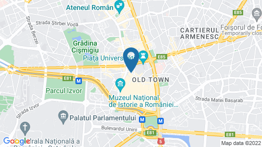 The Marmorosch Bucharest, Autograph Collection Map