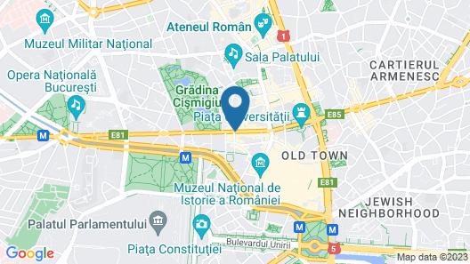 Hotel Cismigiu Map