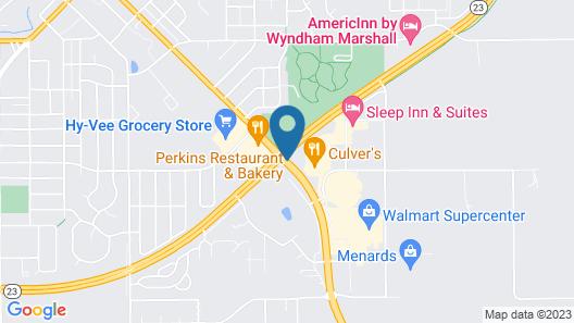 Super 8 by Wyndham Marshall MN Map