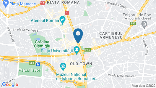 InterContinental Bucharest Map