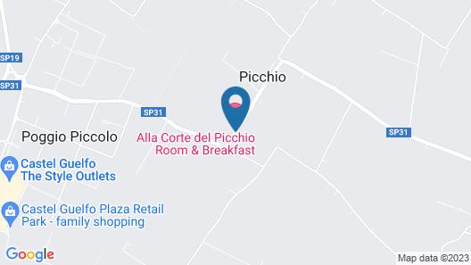 Alla Corte del Picchio Map
