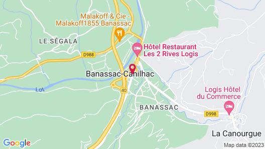 Hotel Le Calice du Gevaudan Map