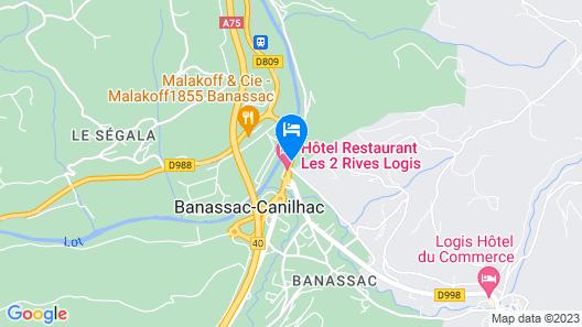 Hotel Les 2 Rives Map