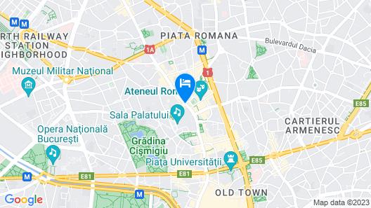 Athenee Palace Hilton Bucharest Map