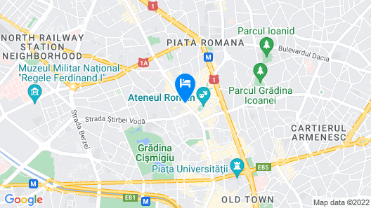 Radisson BLU Bucharest Map