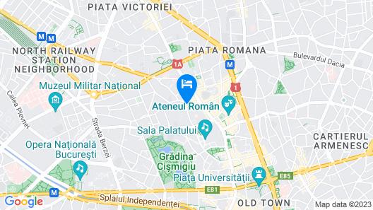 Berthelot Hotel Bucharest Map