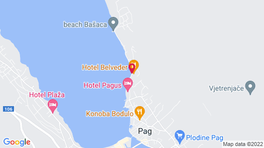 Hotel Belveder Map