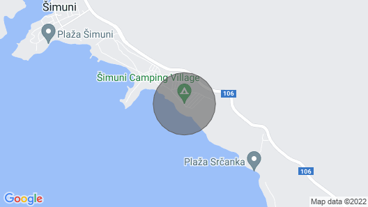 4 Luxurious Mobile Home - Camping Simuni, Pag, Croatia Map