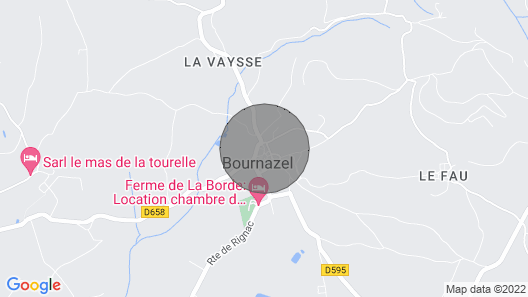 House Cottage of the Farm of Bournazel Map