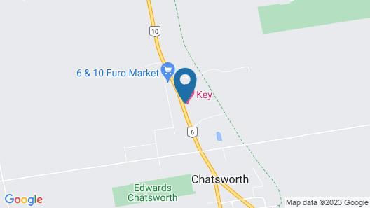 Key Motel Map